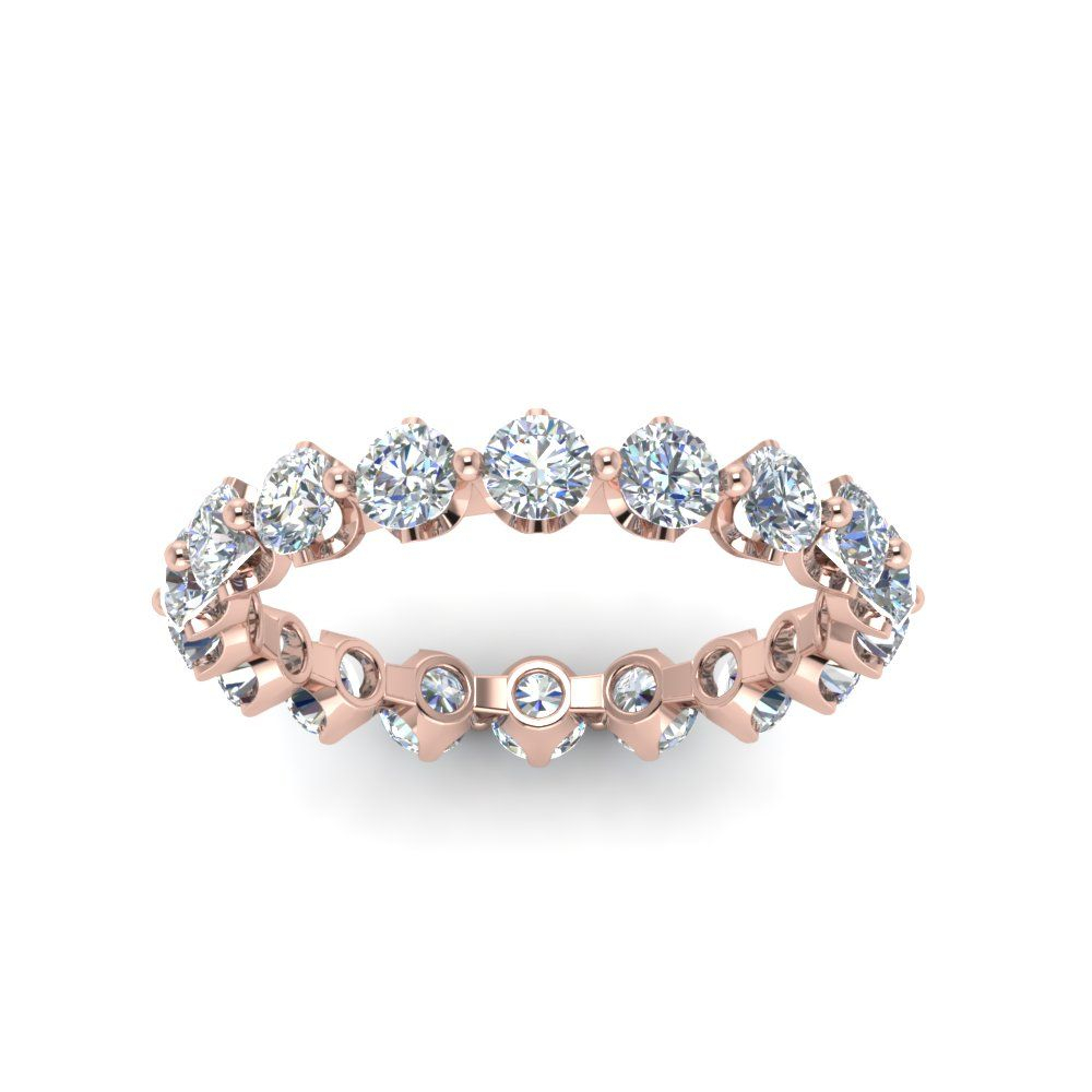 Floating Diamond Eternity Band For Women In 14K Rose Gold With Most Recent Certified Diamond Anniversary Bands In Rose Gold (View 14 of 25)