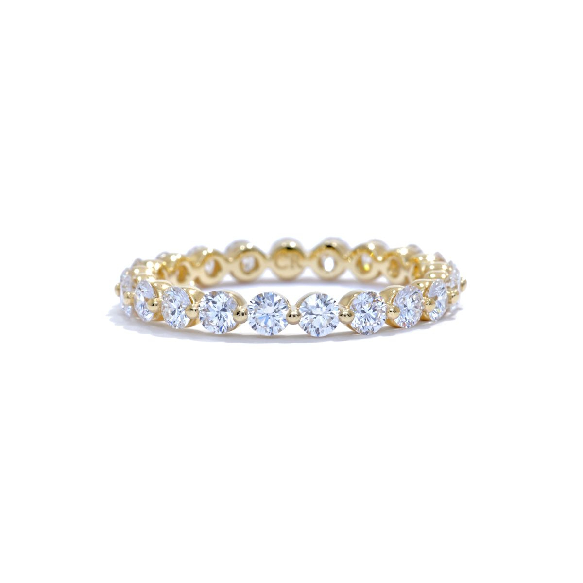Floating Diamond Eternity Wedding Band 1.27 Ct. Tw. (In 18K Within Newest Diamond Eternity Anniversary Vintage Style Bands In White Gold (Gallery 7 of 25)