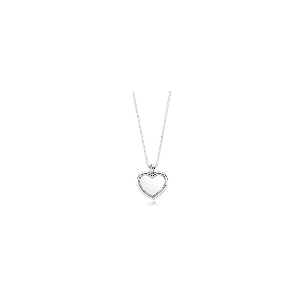 Floating Heart Locket Necklace Pandora Within Most Popular Pandora Lockets Logo Necklaces (Gallery 25 of 25)
