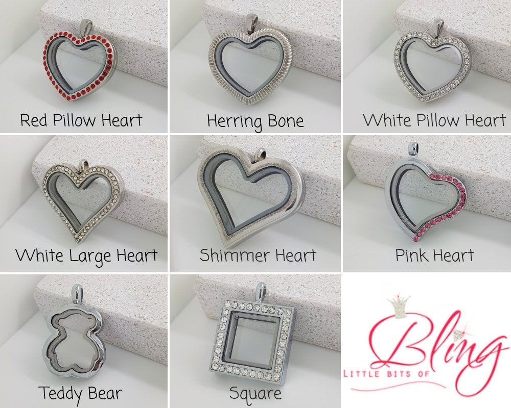 Floating Locket Necklace, Heart Necklace, Square Necklace, Locket For Charms, Memory Locket, Floating Locket Charms, Ladies Locket Necklace For Recent Family Script Locket Element Necklaces (Gallery 18 of 25)