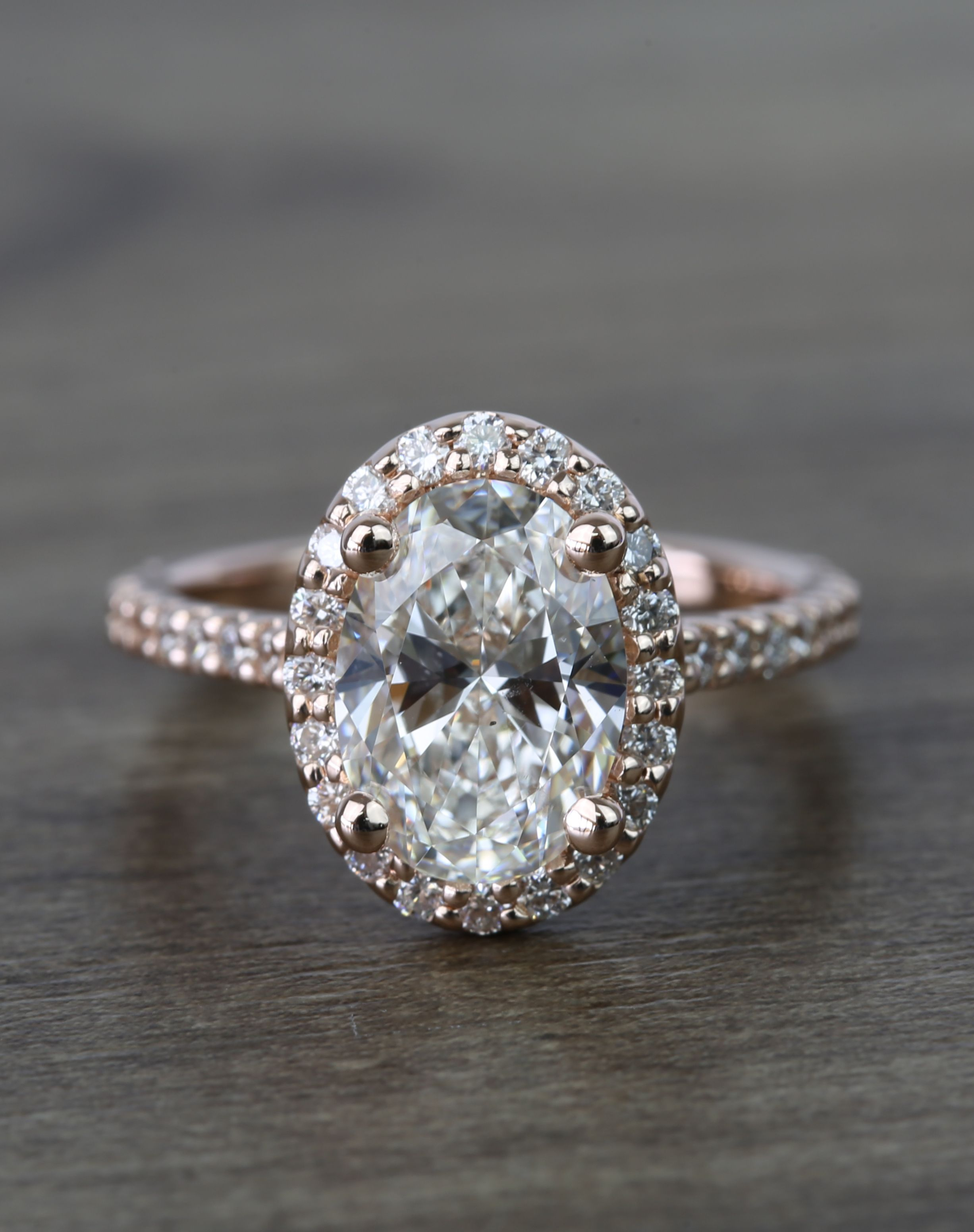 Floating Oval Diamond Halo Engagement Ring ( (View 11 of 25)