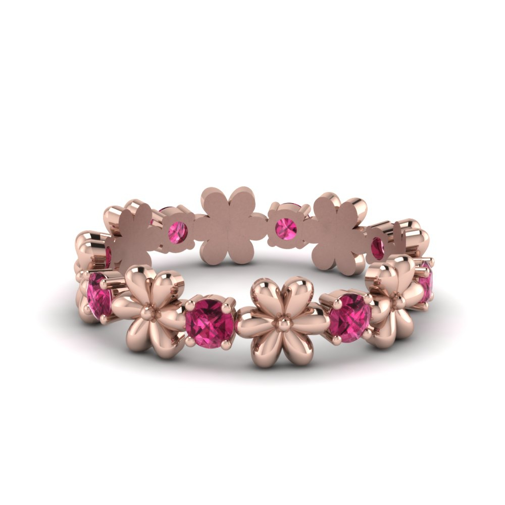 Flower Gemstone Wedding Ring In Recent Classic Daisy Flower Band Rings (View 12 of 25)