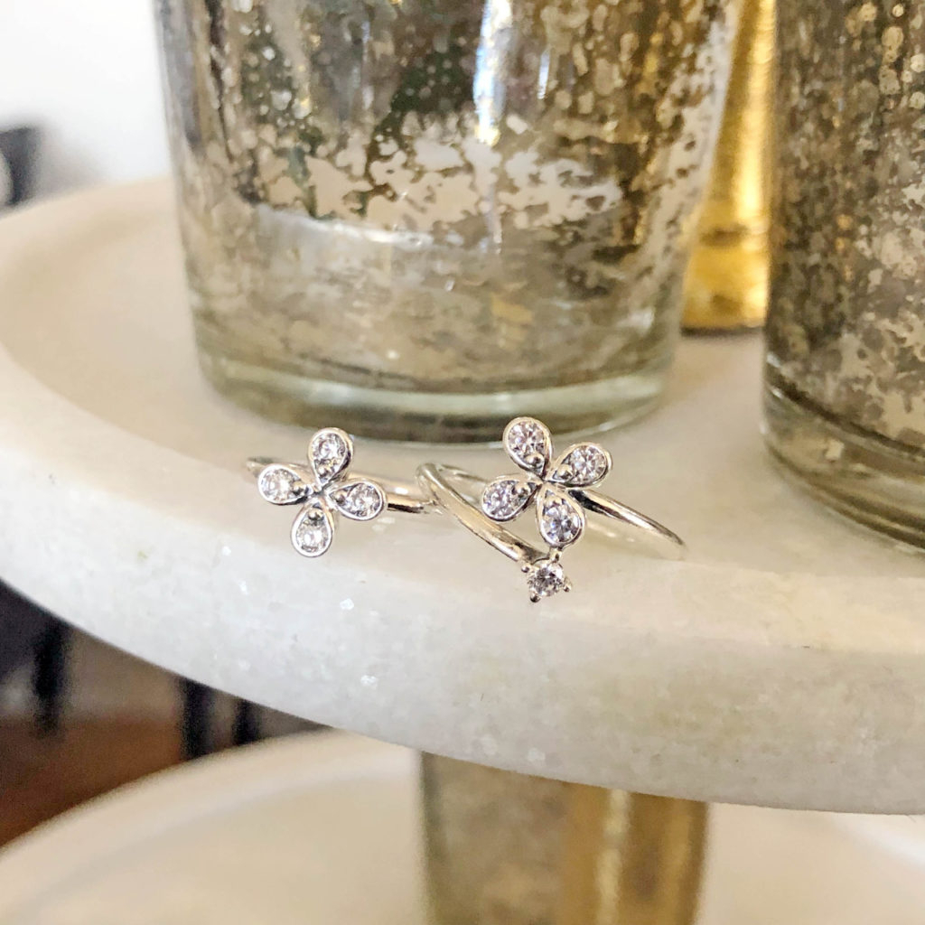 Fly Away With The Pandora Garden Collection New Spring Arrivals Pertaining To Most Recently Released Four Petal Flower Rings (View 17 of 25)