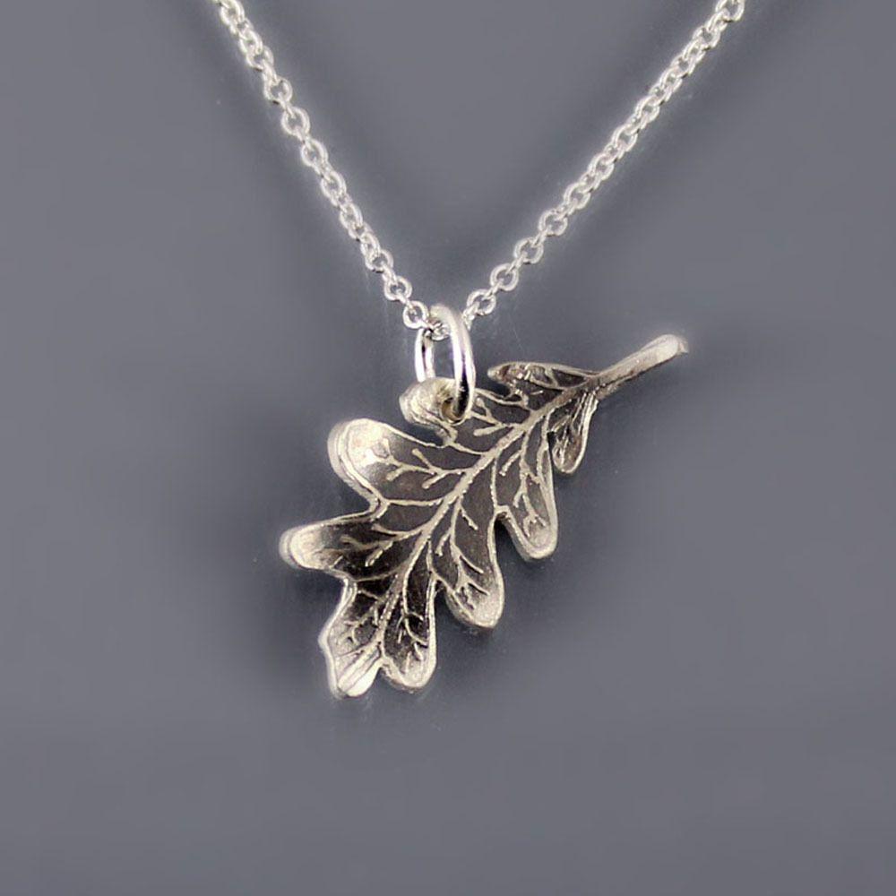 For The Botanist Or Ecologist: Silver Oak Leaf Necklacelisa Intended For Best And Newest Oak Leaf Necklaces (Gallery 10 of 25)