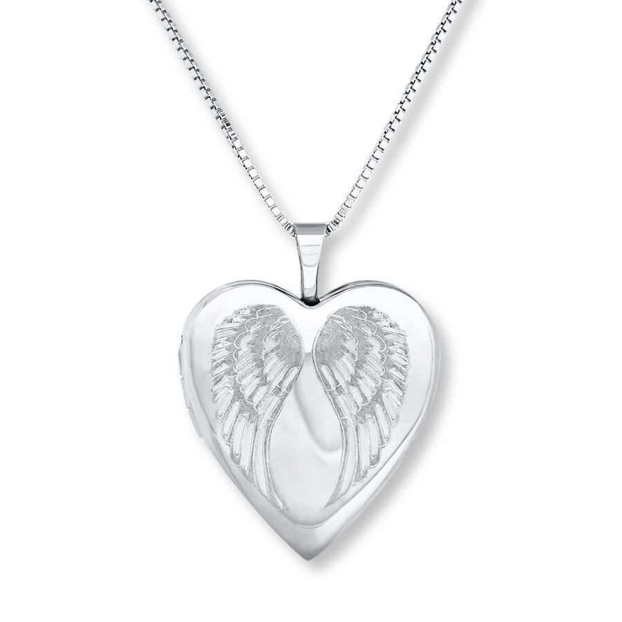 """Forever In My Heart"""" Locket Necklace Sterling Silver – 713948305 – Kay With Latest Family Script Locket Element Necklaces (View 5 of 25)"""
