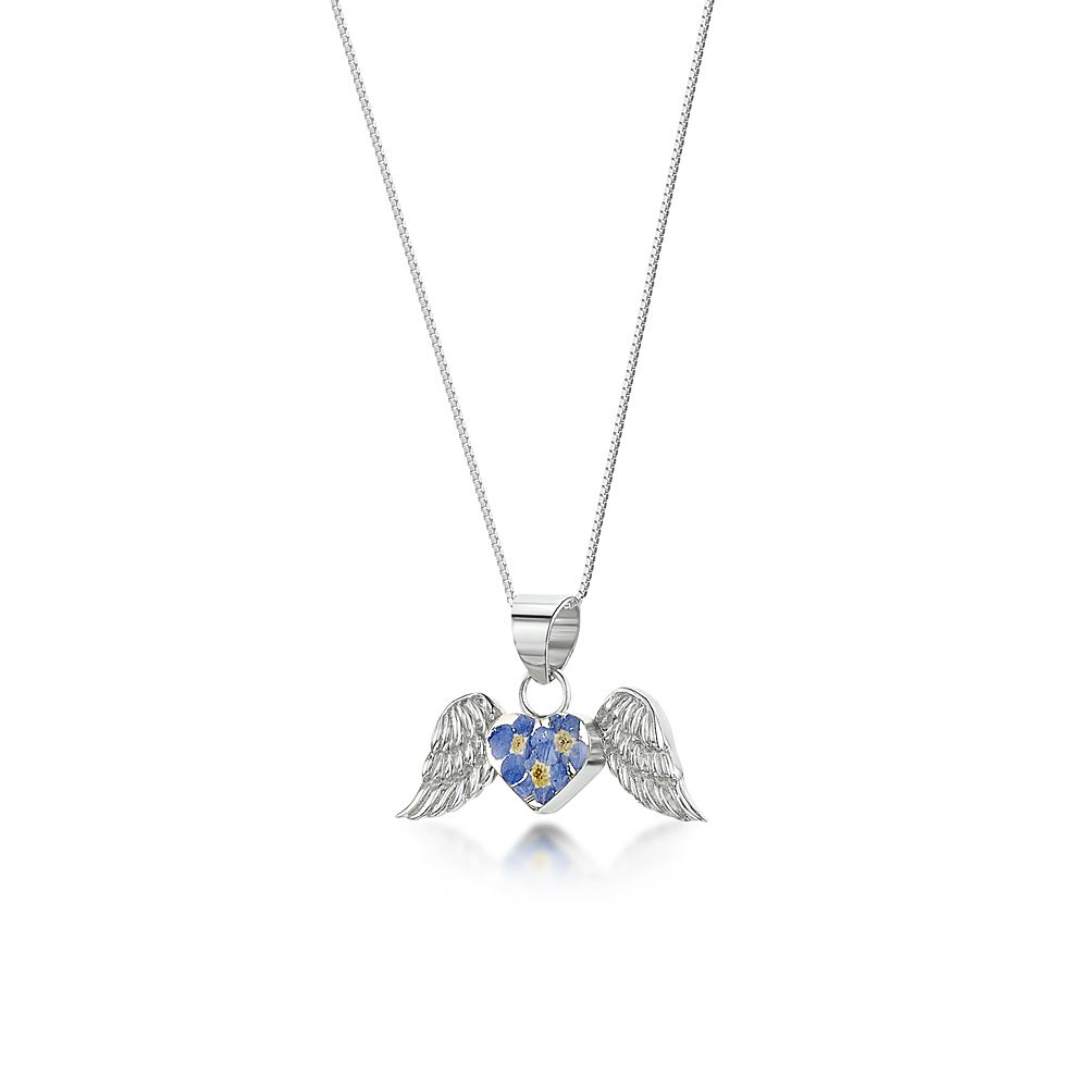 Forget Me Not Angel Necklace Pertaining To Most Recent Forget Me Not Necklaces (Gallery 13 of 25)