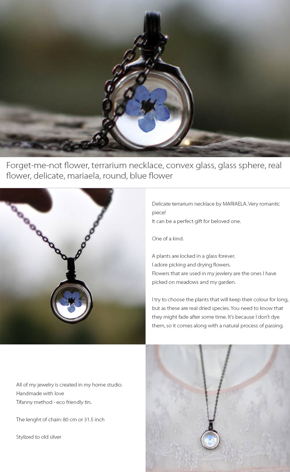 Forget Me Not Flower Necklace (Out Of Stock) From Apollo Box With Best And Newest Forget Me Not Necklaces (Gallery 17 of 25)