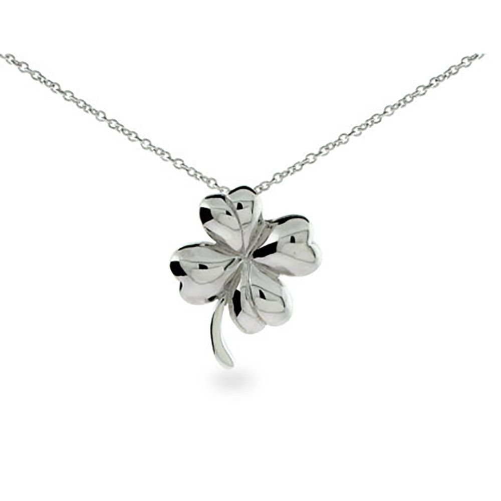 Four Leaf Clover Necklace In 2019 | Pityme819 | Four Leaf Clover Inside Most Current Lucky Four Leaf Clover Pendant Necklaces (View 17 of 25)
