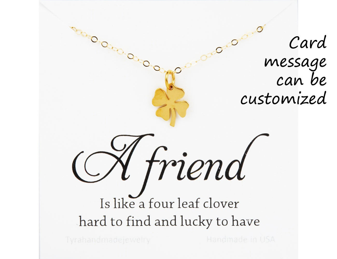Four Leaf Clover Necklace,shamrock Necklace,lucky Charm Shamrock  Necklace,,best Friend Gift,st Patricks Day Gift,sisterhood,birthday Gift With Latest Lucky Four Leaf Clover Y  Necklaces (View 10 of 25)