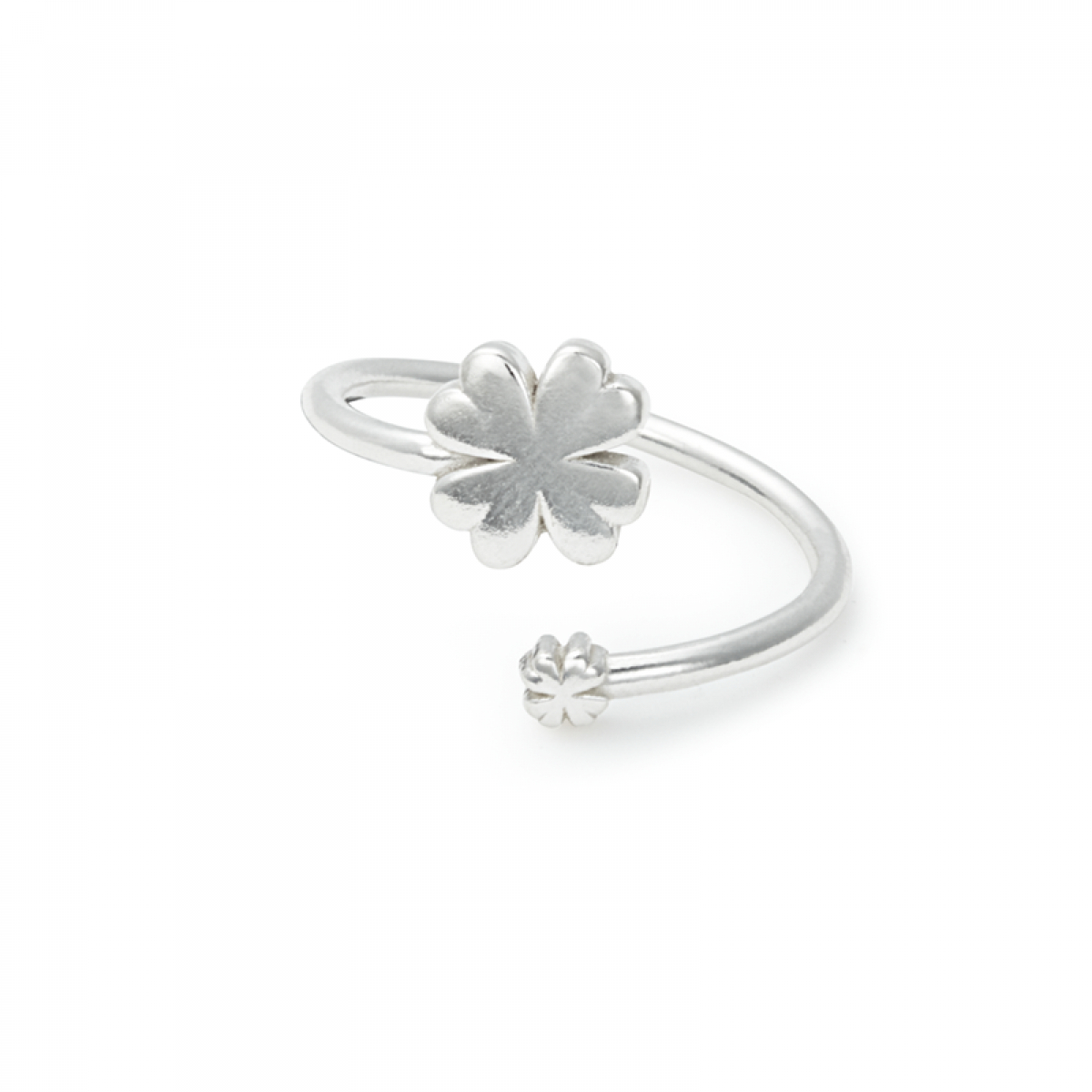 Four Leaf Clover Ring Wrap In Sterling Silver| Alex And Ani Intended For 2018 Dangling Four Leaf Clover Rings (View 15 of 25)