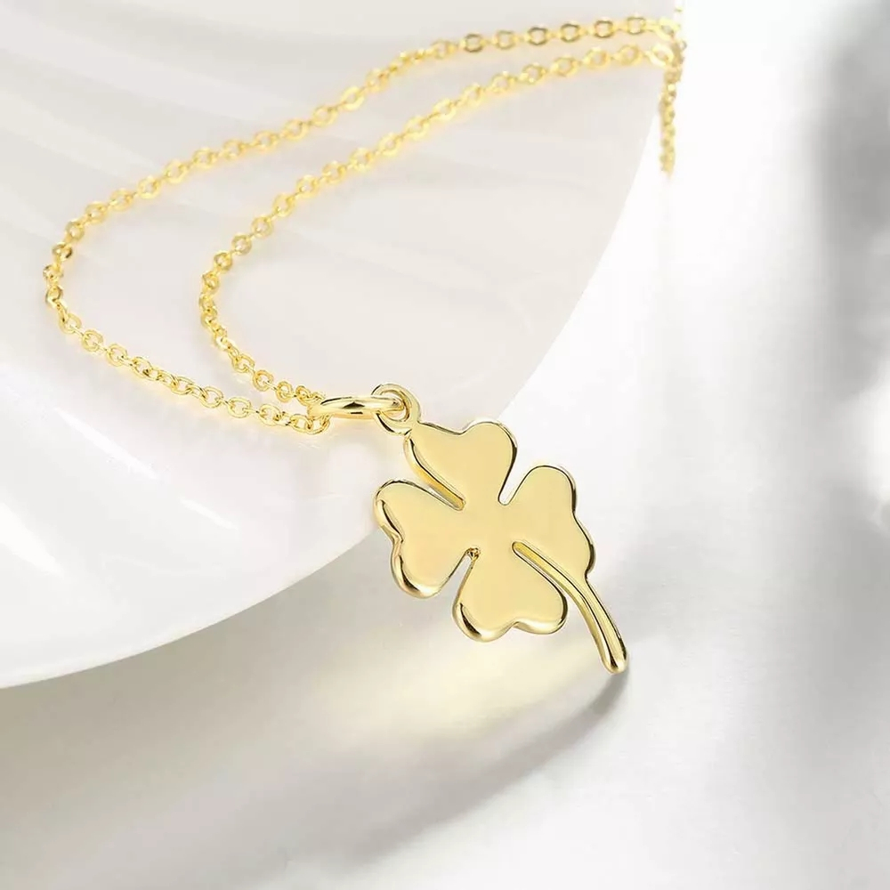 Four Leaf Clover Shape Pendant Necklace Charm Jewelry Inside 2019 Four Petal Flower Necklaces (Gallery 22 of 25)