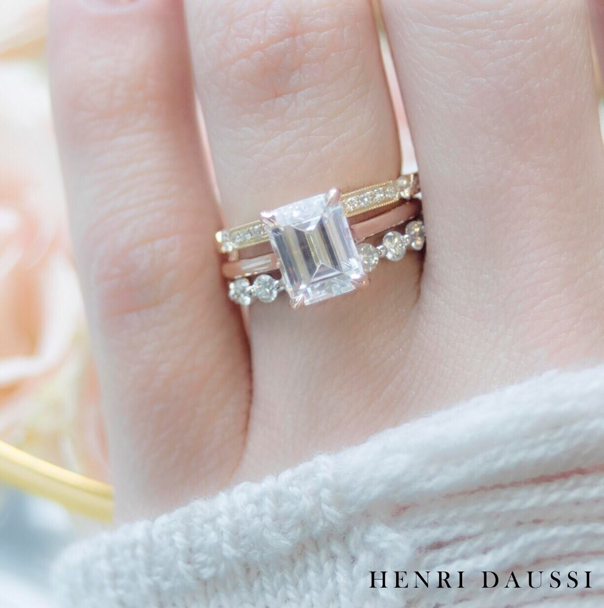 Fourth Generation Jewelers | Siebke Hoyt Jewelers, Cedar With Regard To 2019 Champagne And White Diamond Edge Anniversary Bands In Rose Gold (View 9 of 25)