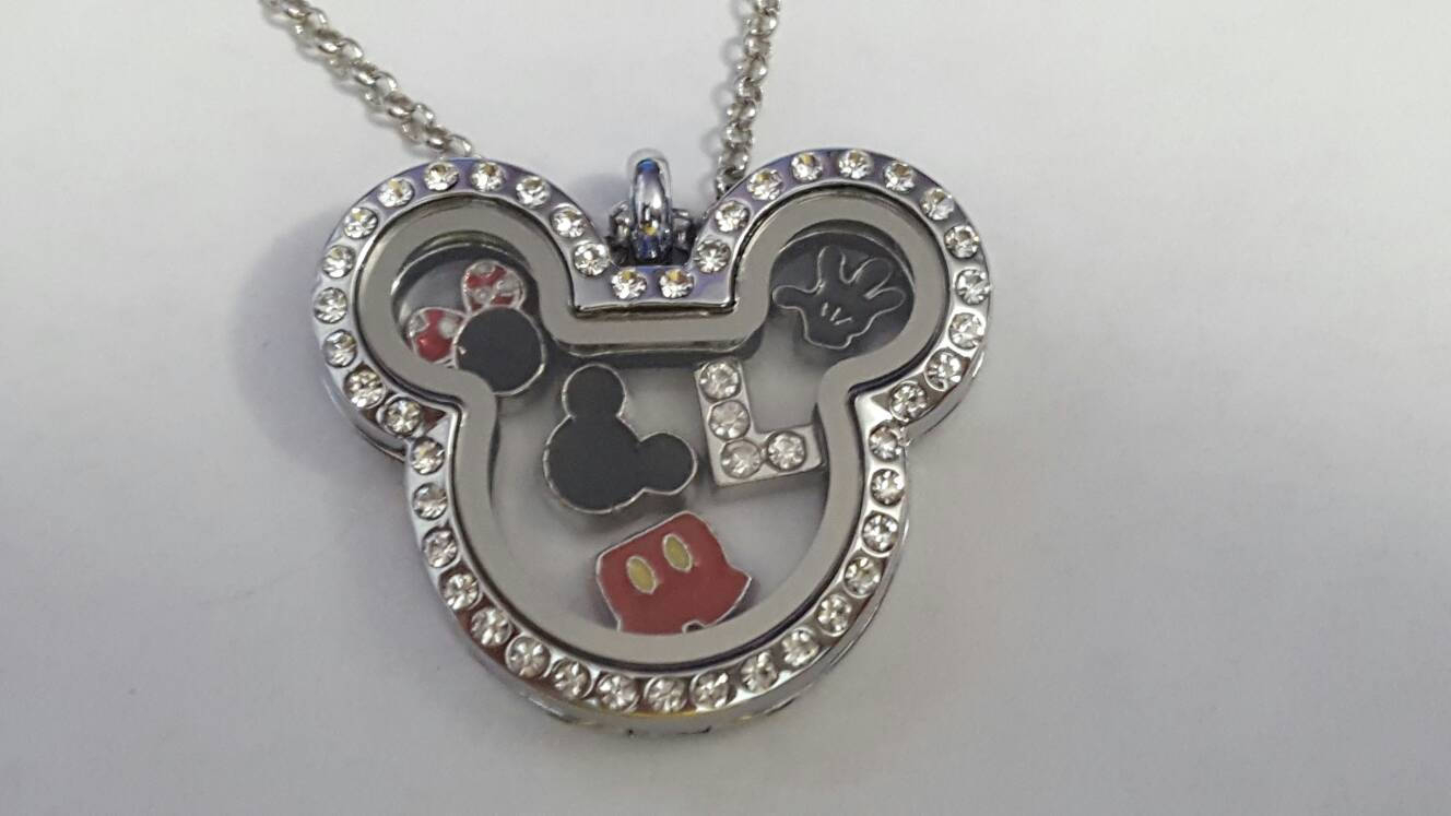 Free Shipping!*** Disney Mickey Minnie Mouse Floating Charm Locket Necklace – Chain Included! Within Best And Newest Disney Mickey Floating Locket Necklaces (Gallery 16 of 25)