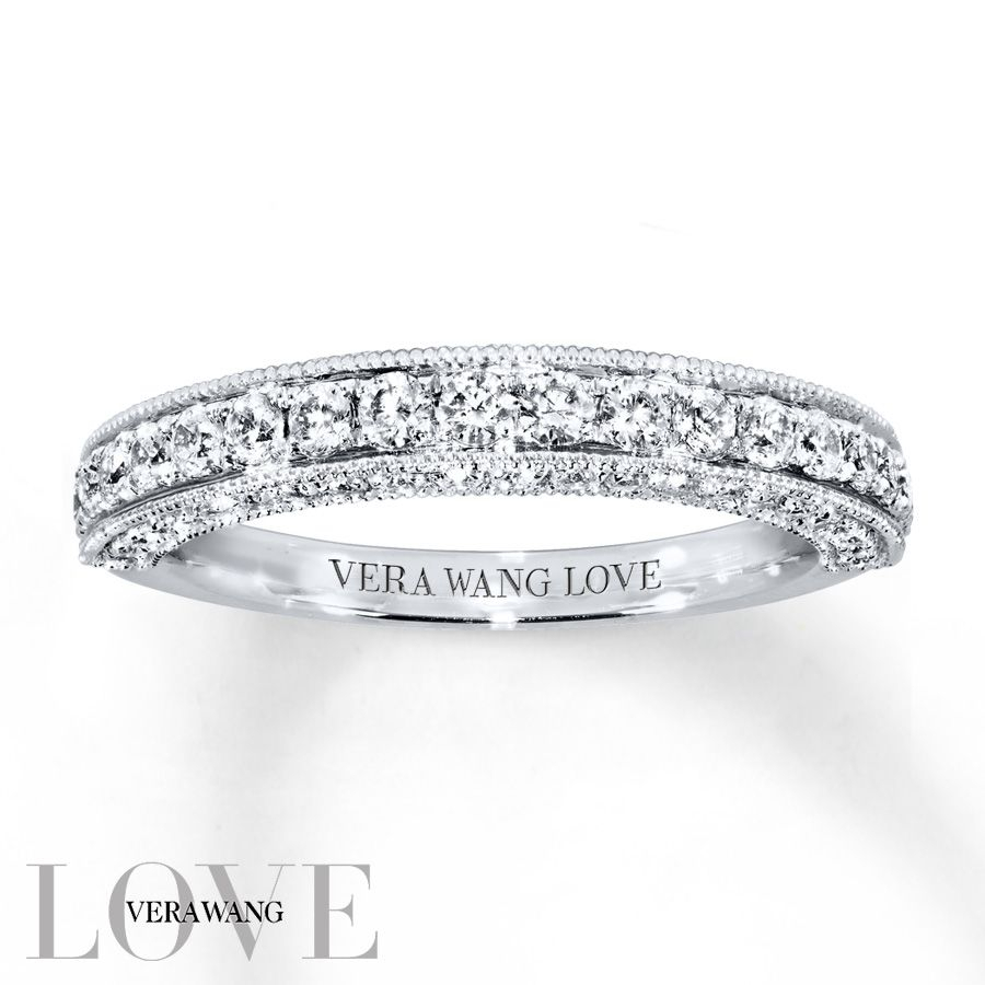 From The Vera Wang Love Collection, This Exceptional Wedding Inside Most Recent Vera Wang Love Collection Diamond Two Row Anniversary Bands In White Gold (Gallery 2 of 25)