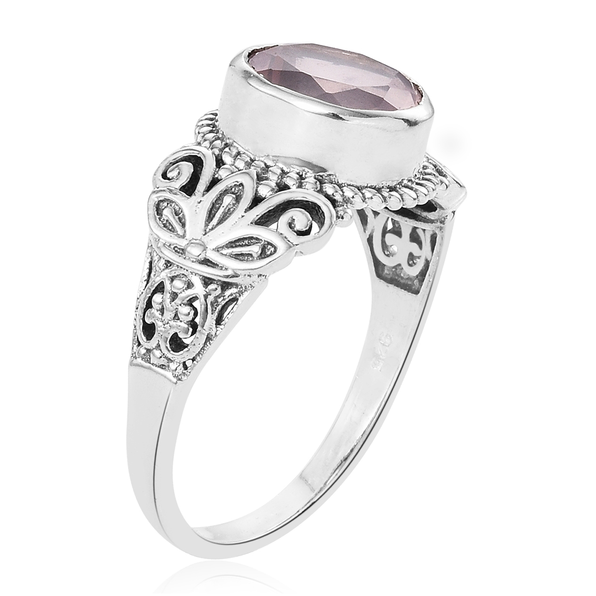 Galilea Rose Quartz Sterling Silver Openwork Butterfly Ring (size 8.0) Tgw 2.58 Cts (View 14 of 25)