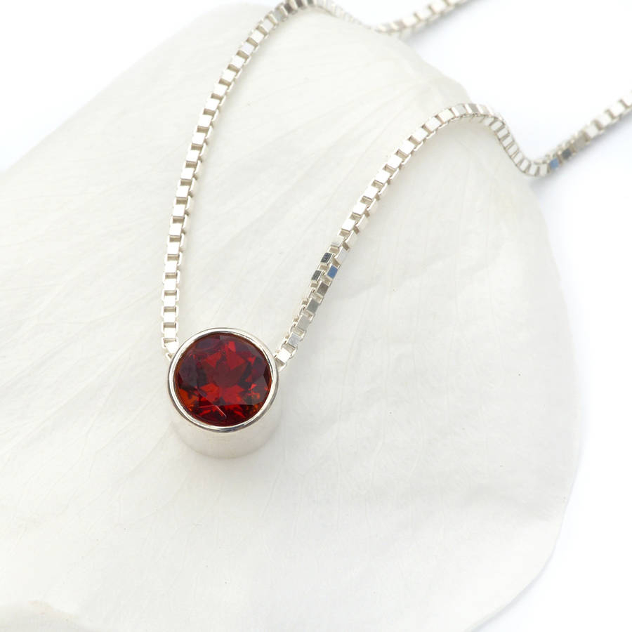 Garnet Jewellery – Fashion Dresses Within Current Garnet January Droplet Pendant Necklaces (View 16 of 25)