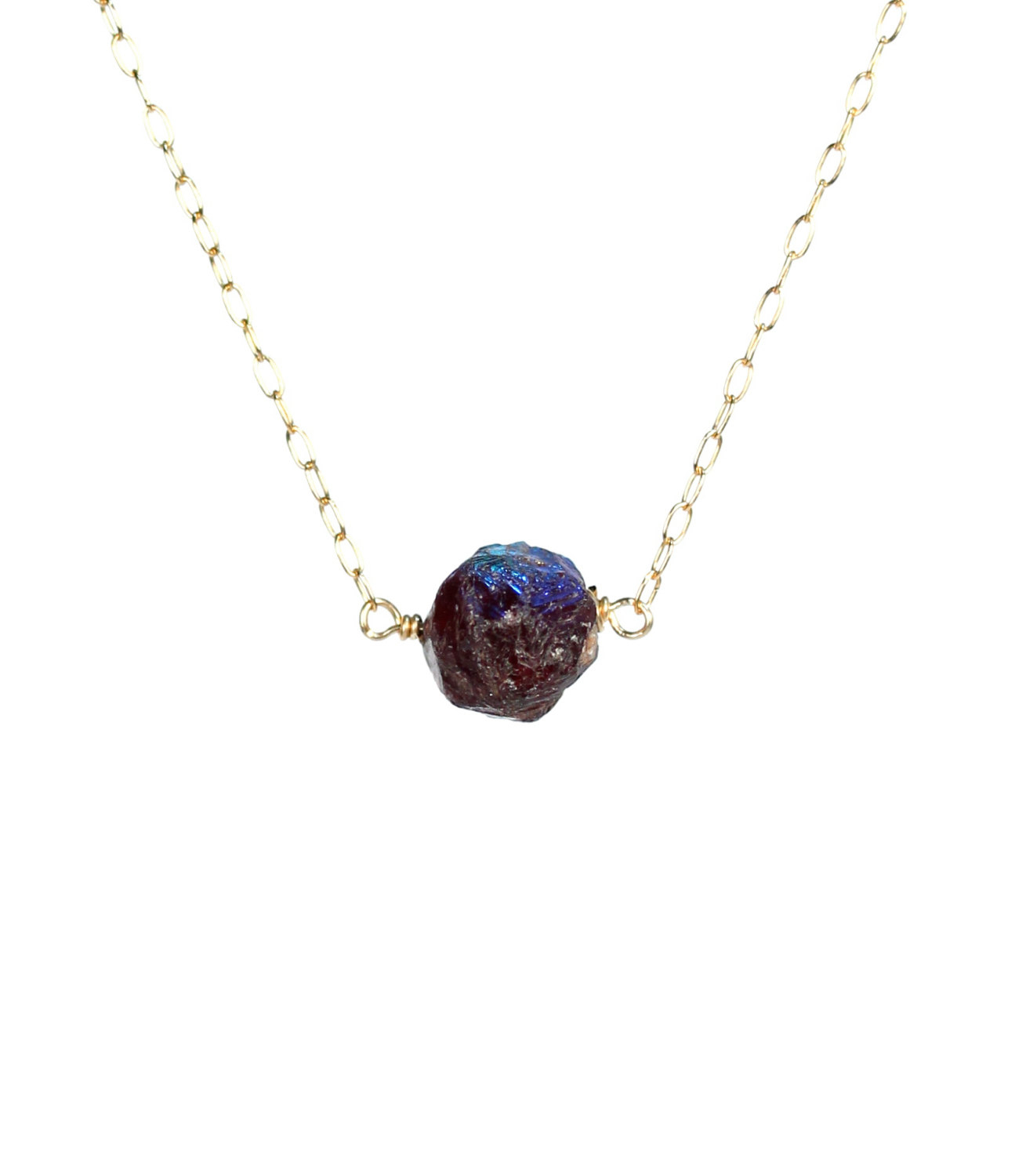 Garnet Necklace – January Birthstone Necklace – Healing Crystal With Regard To Most Recent Garnet Red January Birthstone Locket Element Necklaces (View 10 of 25)