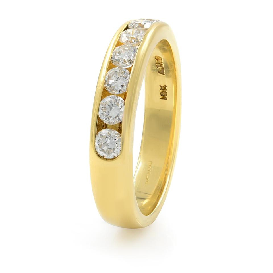 Gavriel's Jewelry Yellow Channel Set Solid Gold Round Diamond Wedding  Anniversary Band Ring For Most Recently Released Diamond Channel Anniversary Bands In Gold (View 17 of 25)