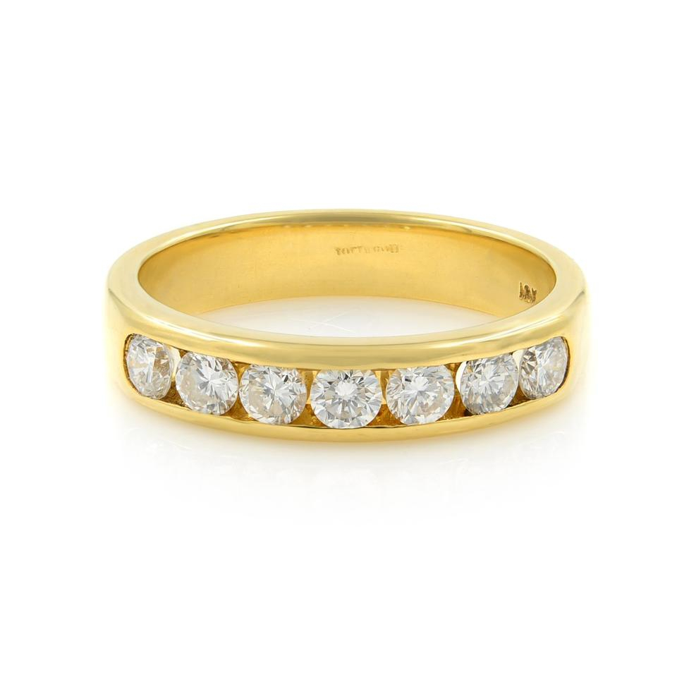 Gavriel's Jewelry Yellow Channel Set Solid Gold Round Diamond Wedding  Anniversary Band Ring Inside 2020 Diamond Channel Set Anniversary Bands In Gold (View 20 of 25)