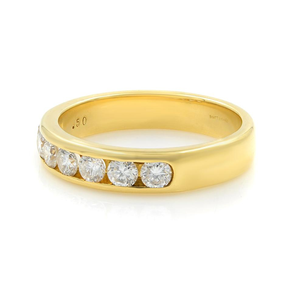 Gavriel's Jewelry Yellow Channel Set Solid Gold Round Diamond Wedding  Anniversary Band Ring Intended For 2019 Diamond Anniversary Bands In Gold (View 17 of 25)