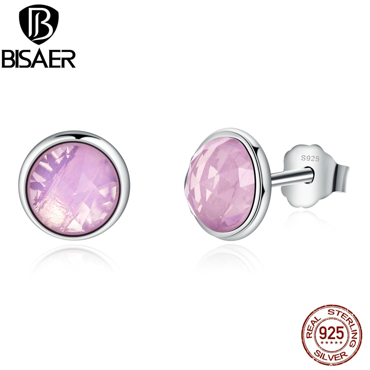 Genuine 925 Sterling Silver Earrings October Droplets,opalescent With Regard To 2019 Opalescent Pink Crystal October Droplet Pendant Necklaces (Gallery 14 of 25)