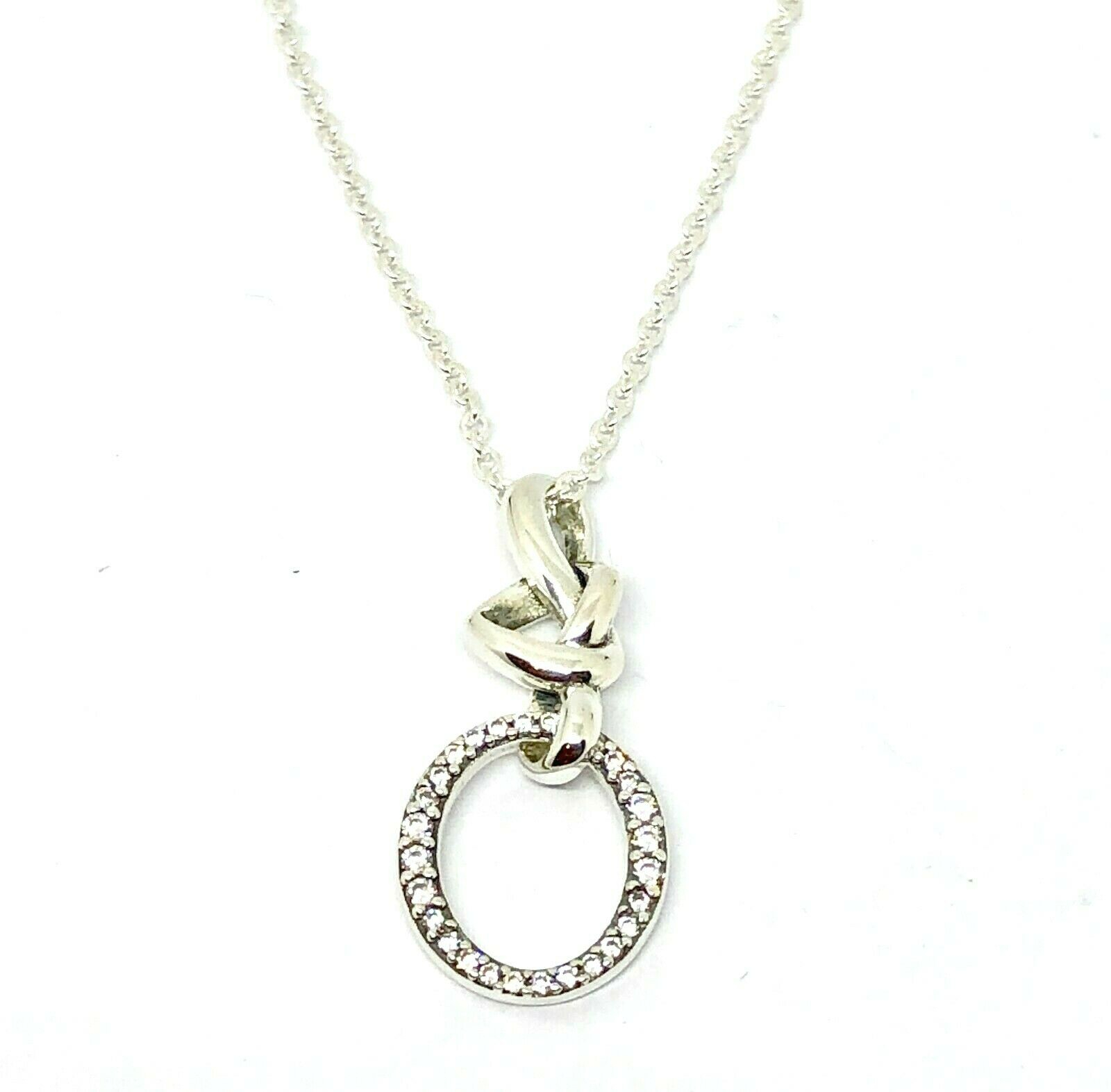 Genuine Authentic Pandora Knotted Heart Necklace 60Cm Pertaining To Latest Pandora Moments Snake Chain Necklaces (View 23 of 25)