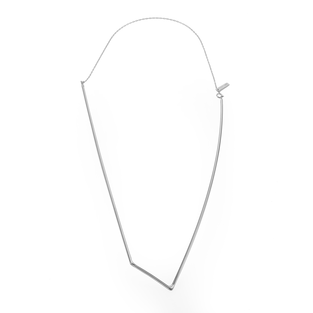 Geometric Rhombus Necklace With Regard To Recent Geometric Lines Necklaces (View 7 of 25)