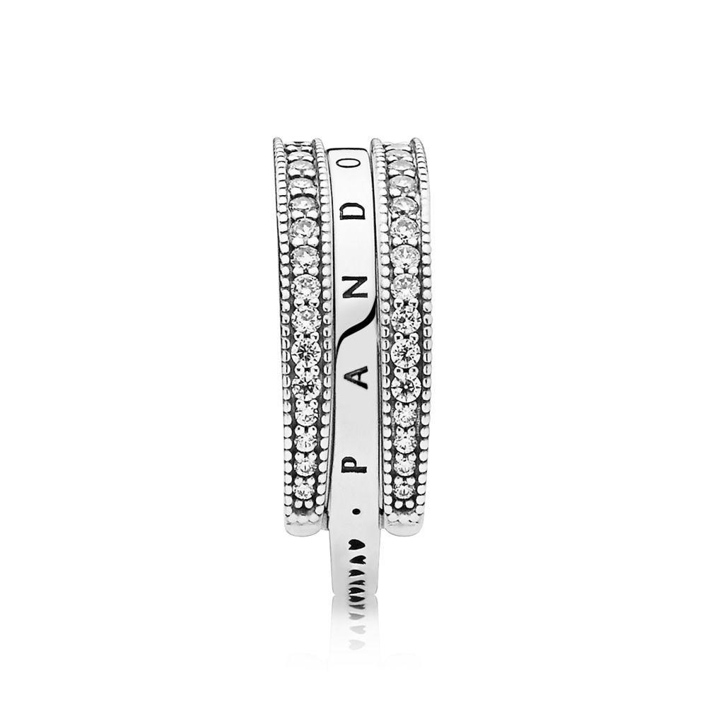 Geschäft Billig Pandora Ringe Flipping Hearts Of Pandora Ring Outlet With Latest Hearts & Pandora Logo Rings (View 4 of 25)