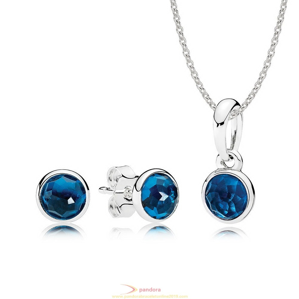 Gifts Under $55 | Pandora Jewellery Uk | Pandora Sale Online 2019 Within 2020 London Blue Crystal December Droplet Pendant Necklaces (View 8 of 25)