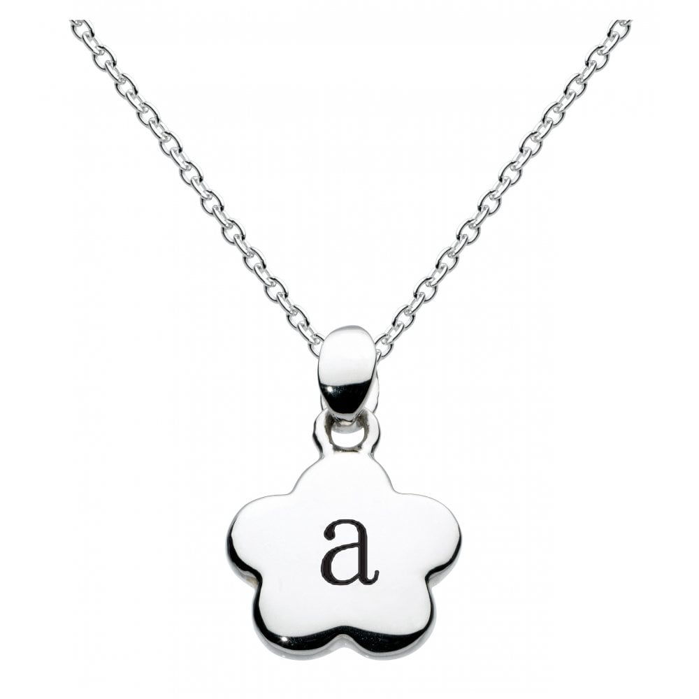 Girls Alphabet Flower Initial A Necklace For Most Current Letter C Alphabet Locket Element Necklaces (View 17 of 25)