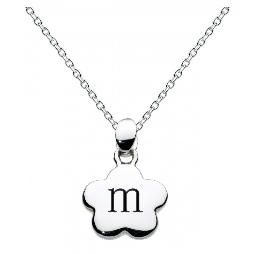 Girls Alphabet Flower Initial M Necklace Within 2020 Letter M Alphabet Locket Element Necklaces (View 8 of 25)