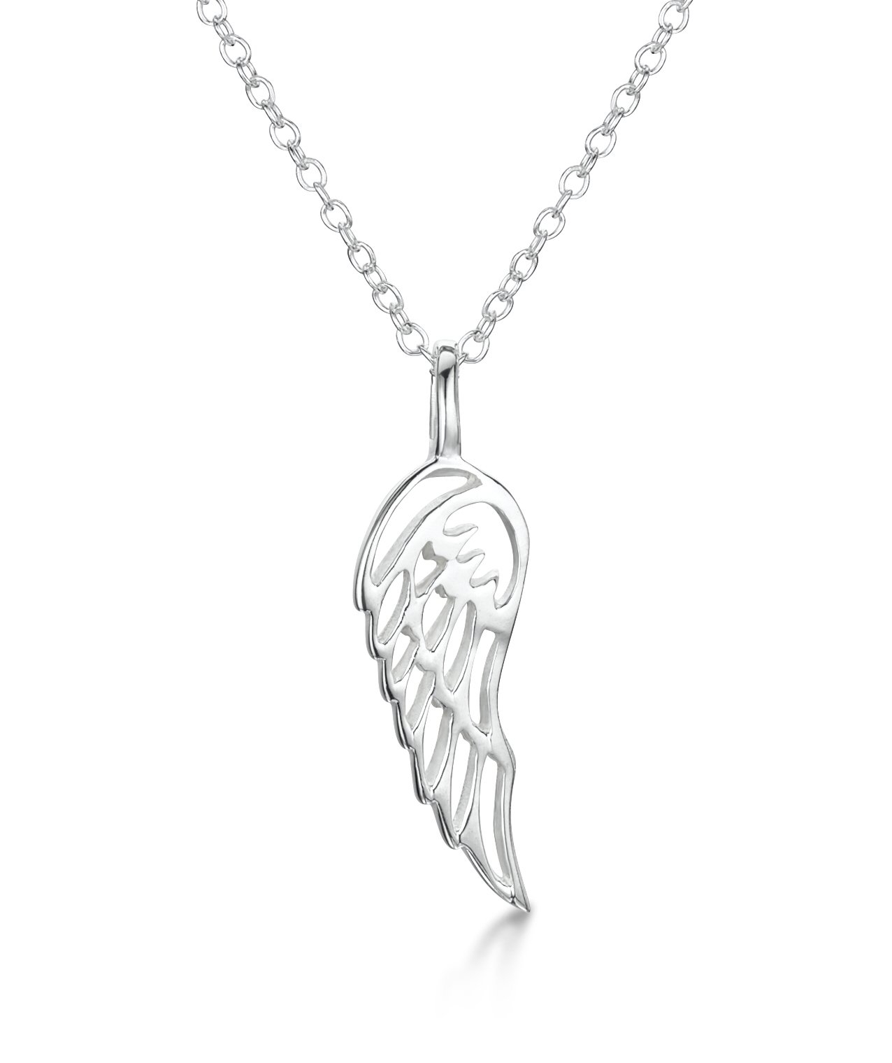 Girls Sterling Silver Angel Wing Pendant – Jo For Girls In Best And Newest Angel Wing Pendant Necklaces (View 14 of 25)