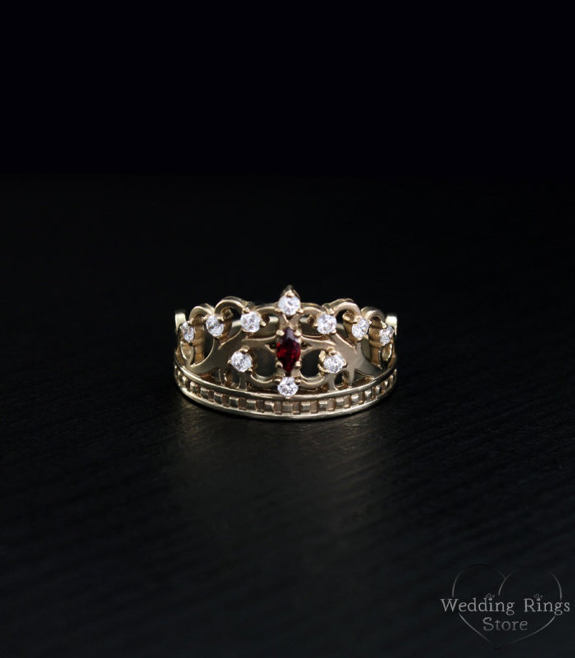 Gold Crown Ring, Princess Tiara Ring, Crown Unique Ring, Anniversary Ring,  Crown Ring, Beautiful Ring Crown, Gift For Women, Amazing Ring Pertaining To Most Recent Princess Tiara Crown Rings (View 10 of 25)