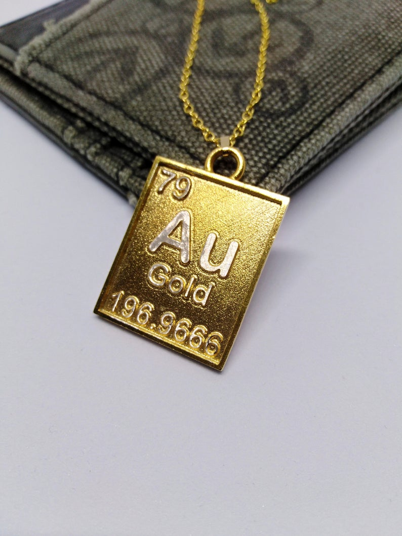 Gold Element Pendant, Au Gold Symbol Pendant, Gold Element Necklace, Au Symbol Necklace, Periodic Table Necklace, Au Sumbol Jewelry With 2019 Letter T Alphabet Locket Element Necklaces (View 10 of 25)