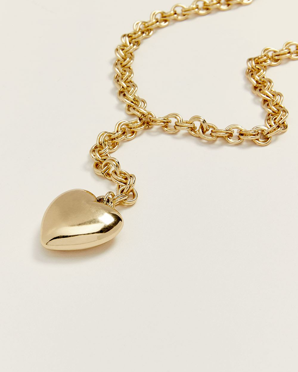 Gold Heart Chain Necklace Intended For Current Joined Hearts Chain Necklaces (View 7 of 25)