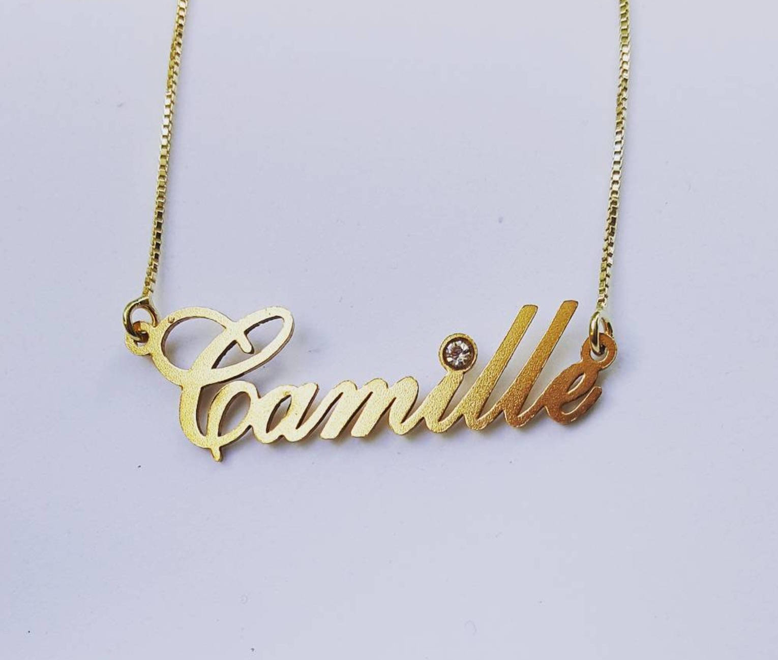 Gold Plated Name Necklace With Swarovski Birthstone Element – Personalized Birthstone Crystal Necklace Regarding Best And Newest Letter S Alphabet Locket Element Necklaces (Gallery 25 of 25)