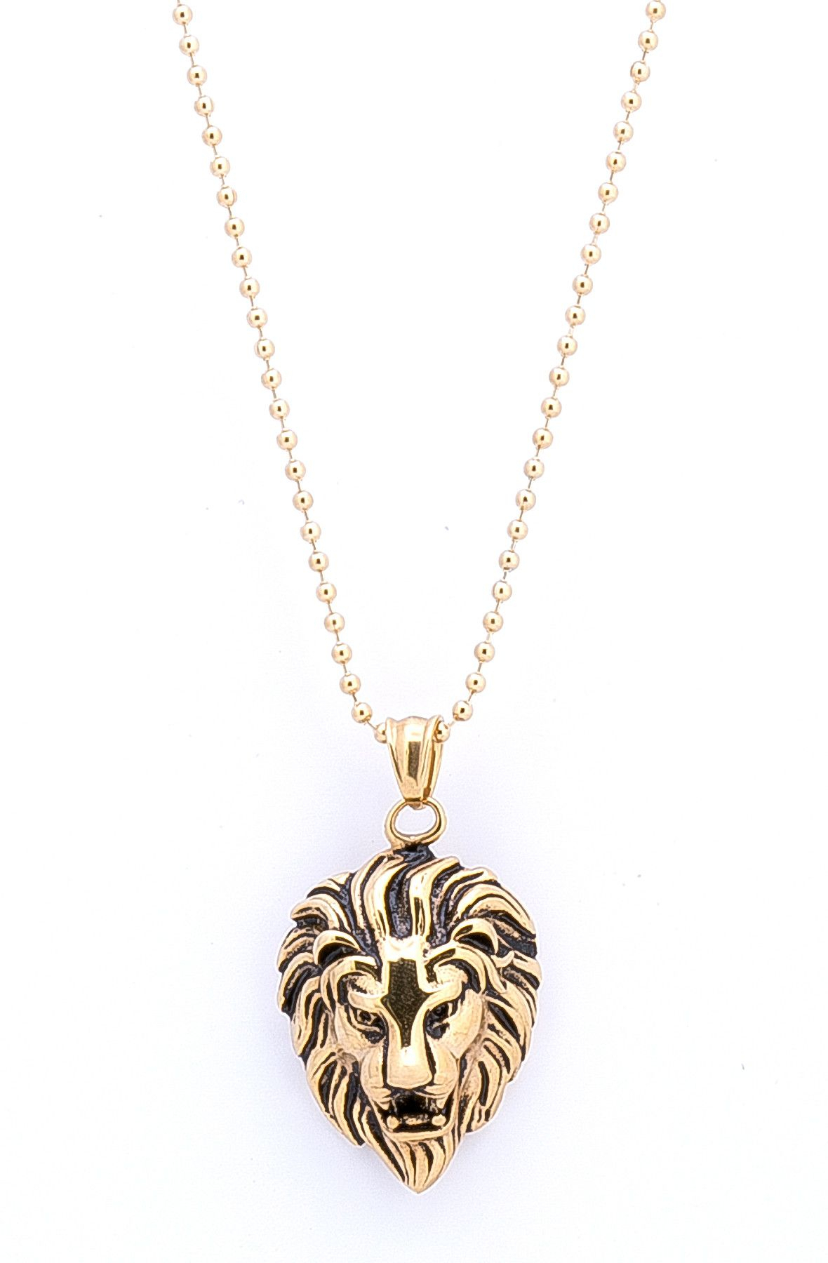 Golden Lion Head | Tag Twenty Two Necklaces | Jewelry, Golden Lions Throughout Most Recent Sparkling Lioness Heart Pendant Necklaces (View 8 of 25)