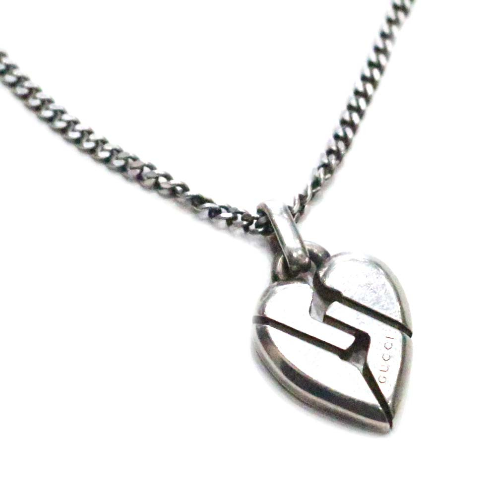 Gucci Gucci Knot Heart Pendant Necklace Lady's Silver Sterling Silver  Accessories For Most Up To Date Knotted Heart Pendant Necklaces (View 8 of 25)