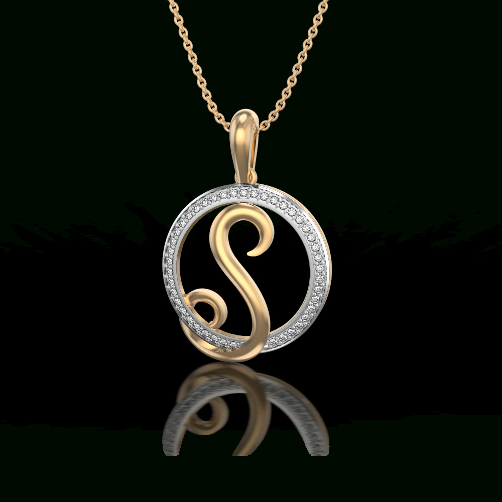 Hallowed Be Thy Name In S Pendant | Neckless In 2019 | Gold Letter Pertaining To Most Recently Released Letter I Alphabet Locket Element Necklaces (View 10 of 25)