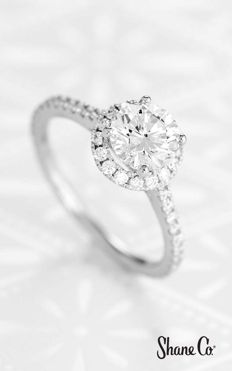 Halo Diamond Engagement Ring For  (View 10 of 25)