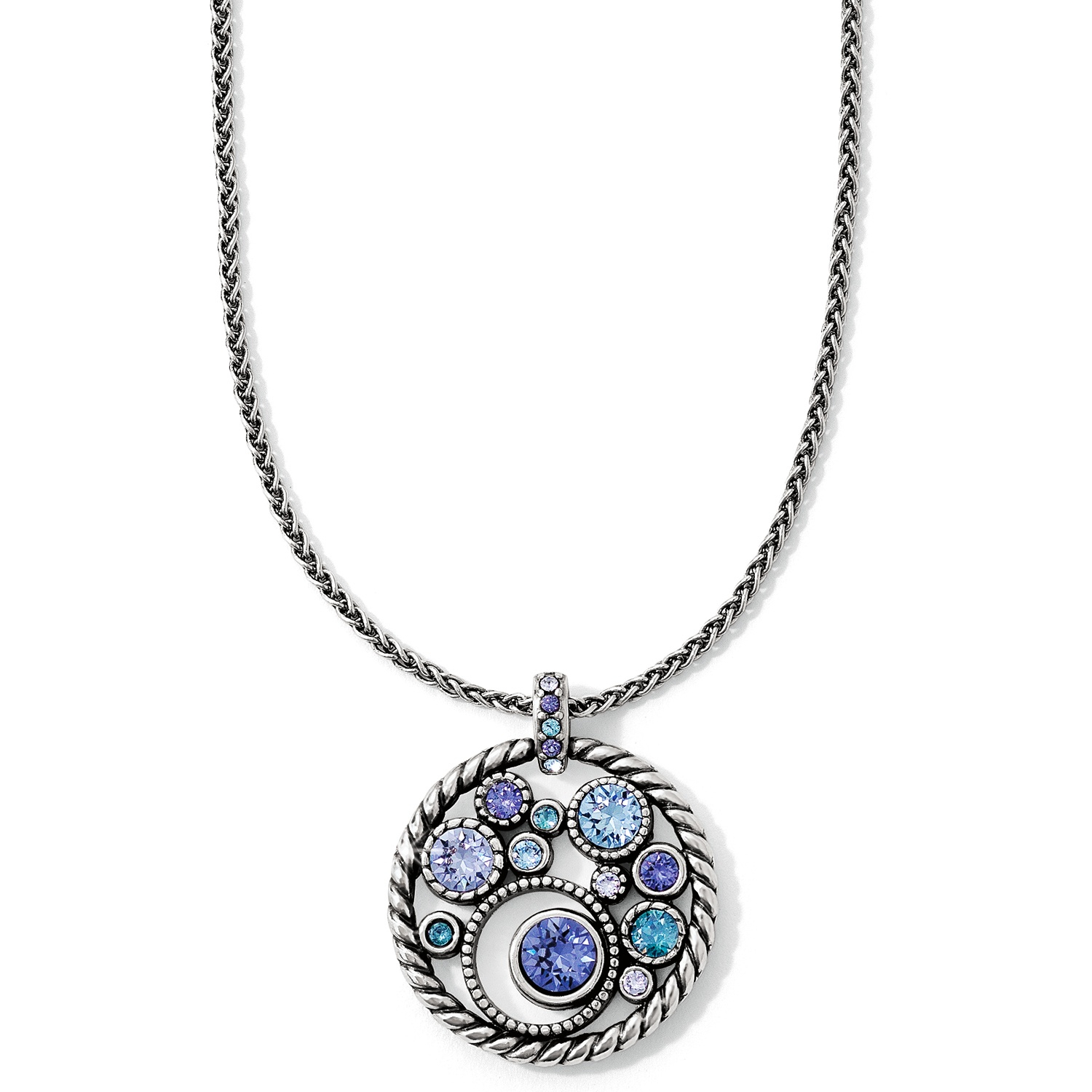 Halo Necklace Intended For Most Popular Square Sparkle Halo Pendant Necklaces (View 14 of 25)