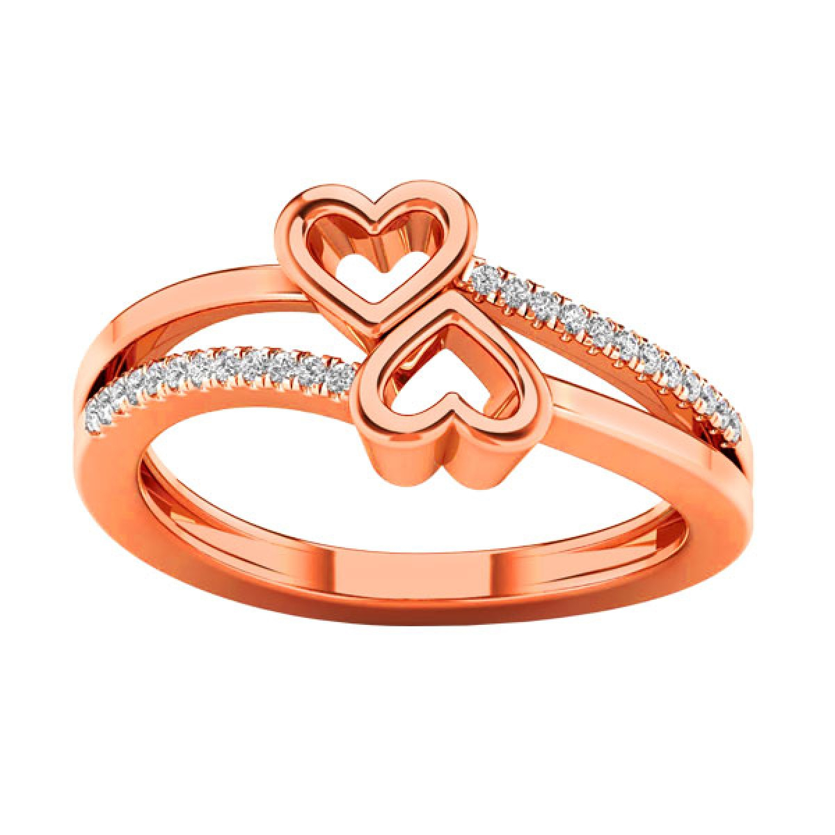 Harris Jewelry – Serving Those Who Serve Within Latest Two Sparkling Hearts Rings (Gallery 20 of 25)