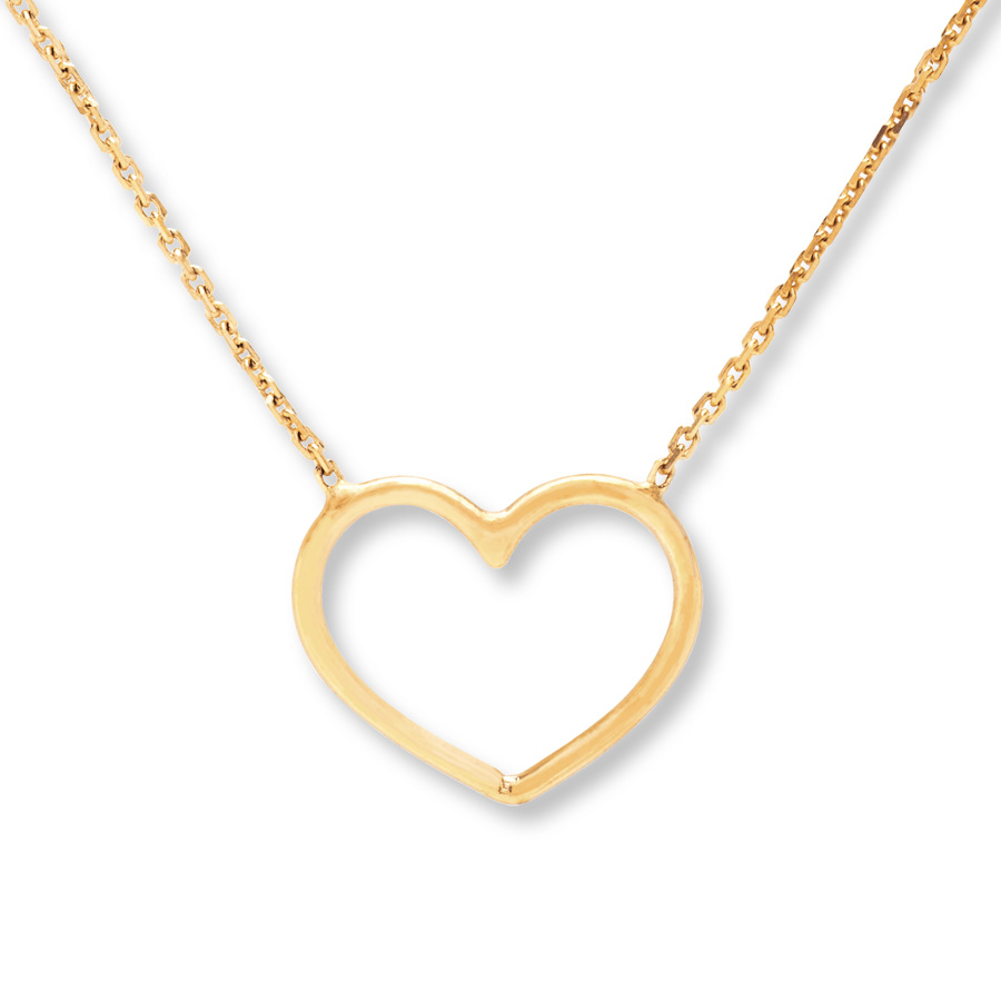Heart Necklace 14k Yellow Gold In 2019 Joined Hearts Chain Necklaces (View 12 of 25)
