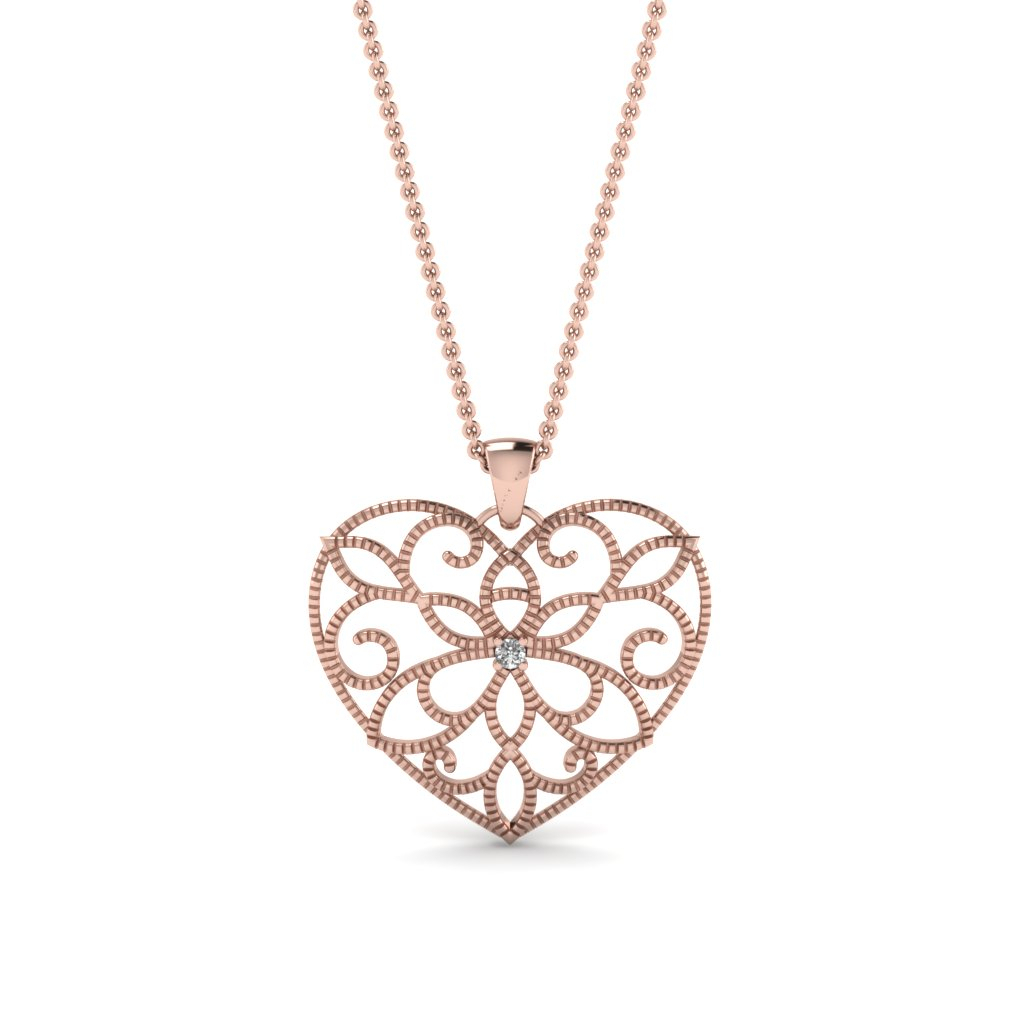 Heart Pendant Necklace Intended For 2019 Crown & Interwined Hearts Pendant Necklaces (Gallery 25 of 25)