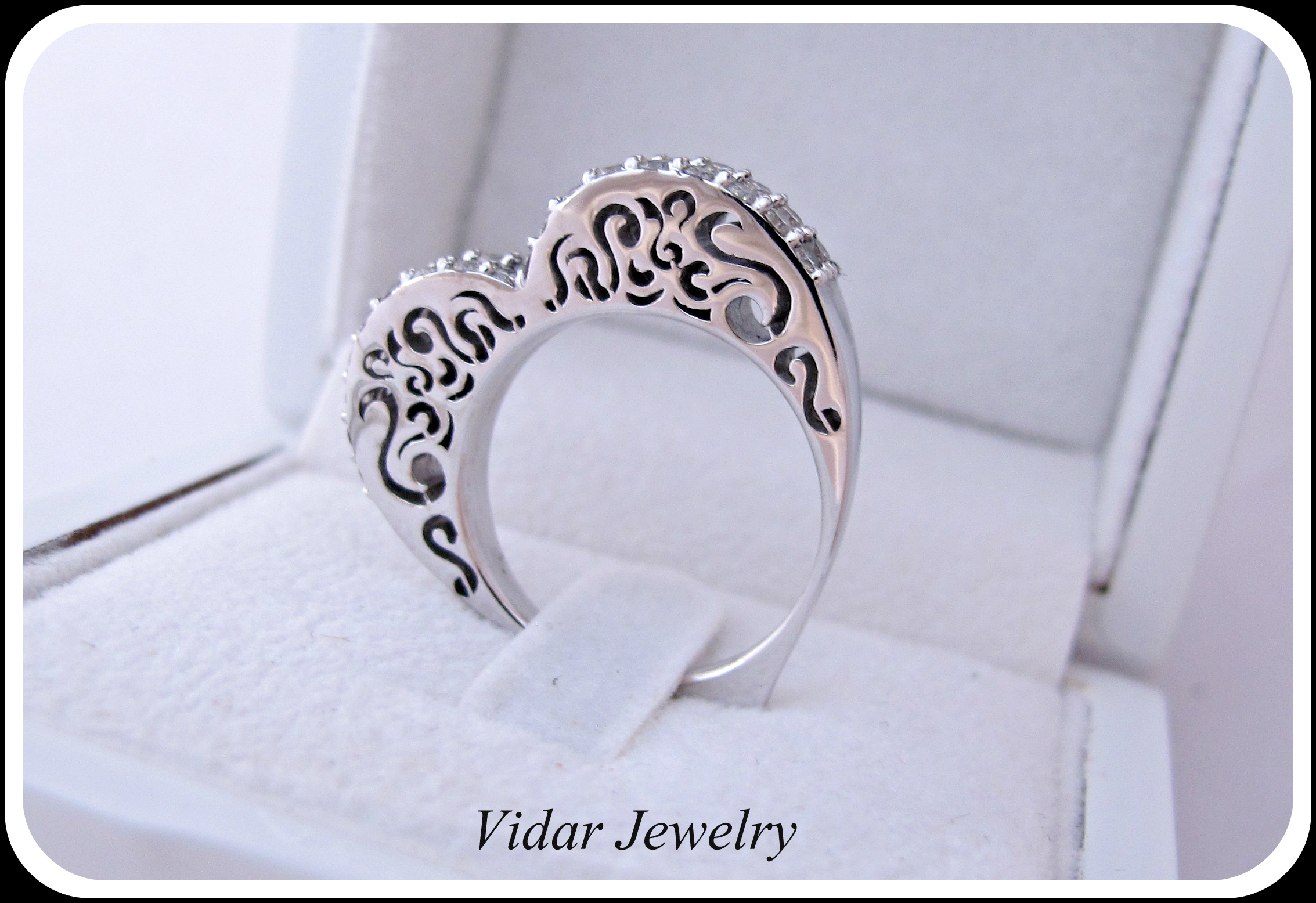 Heart Shape Diamonds Wedding Band For A Women With Latest Band Of Hearts Rings (View 18 of 25)