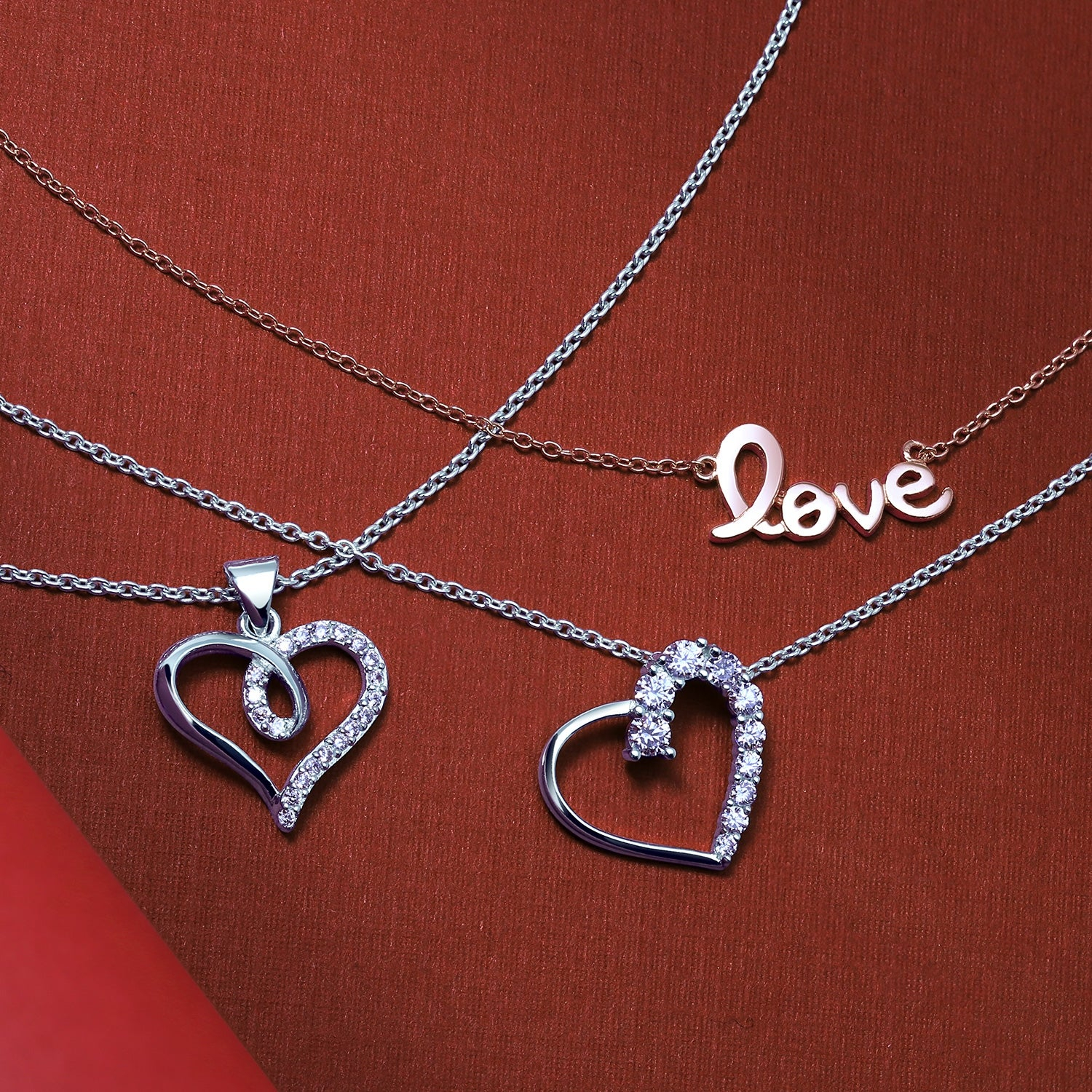 Heart Shape Ribbon Pave Cubic Zirconia Cz Bridal Pendant Necklace For Women Girlfriend 925 Sterling Silver Regarding Recent Ribbon Open Heart Necklaces (View 20 of 25)