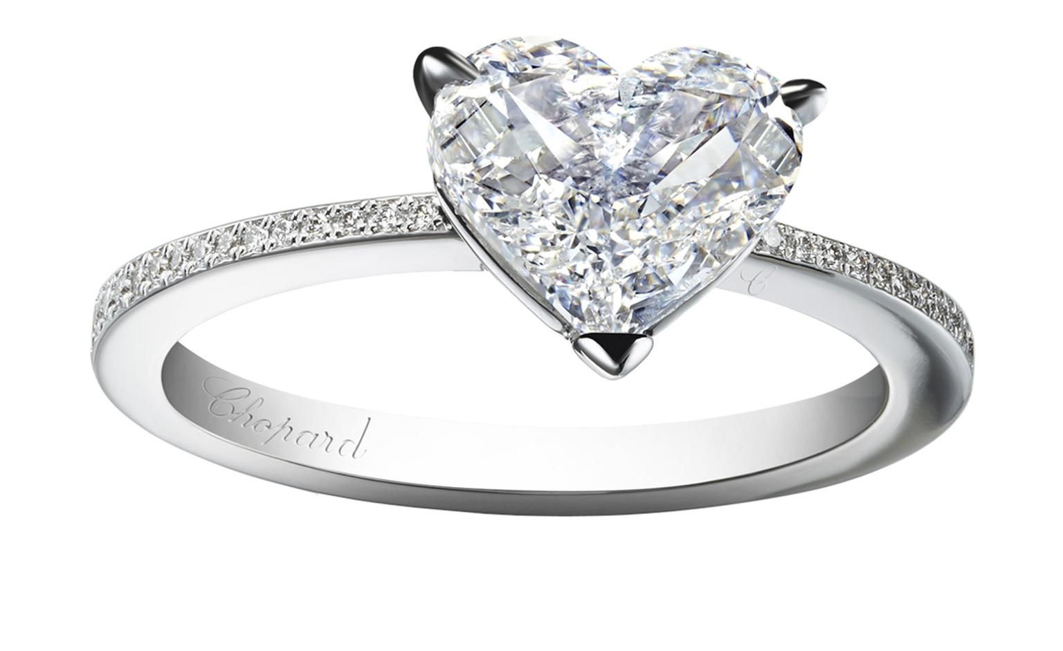 Heart Shaped Diamond Solitaire Ring – Ring – Best Fashion Trend Inside Recent Pavé Hearts Band Rings (Gallery 19 of 25)