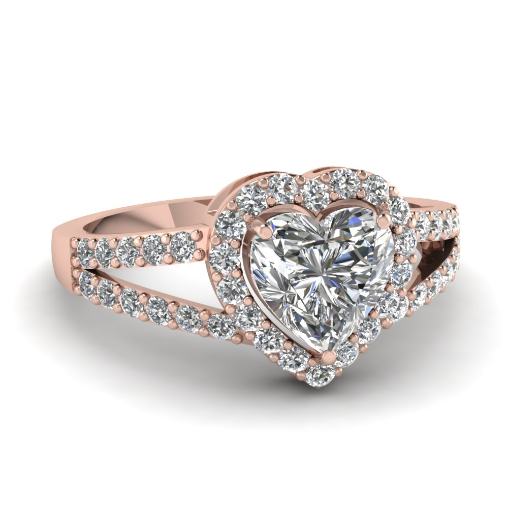 Heart Shaped Engagement Rings |Fascinating Diamonds Inside 2020 Diamond Heart Shaped Anniversary Bands In Gold (View 17 of 25)