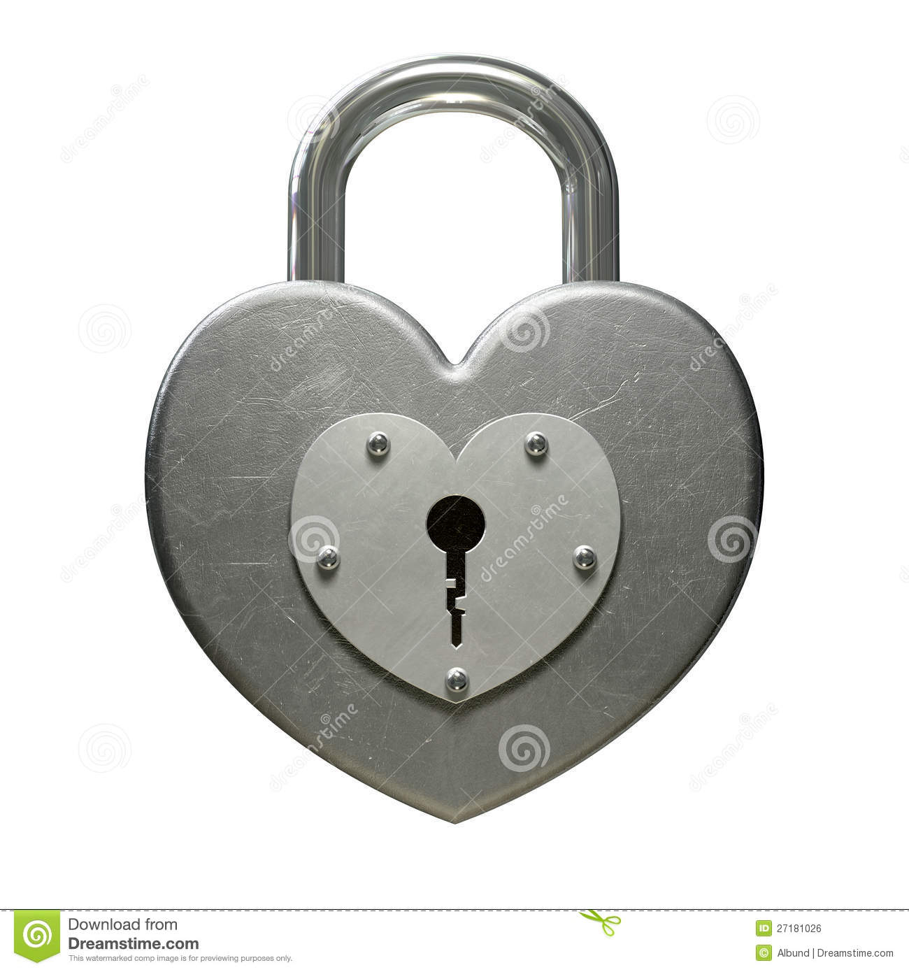 Heart Shaped Padlock Front Stock Photo (View 15 of 25)