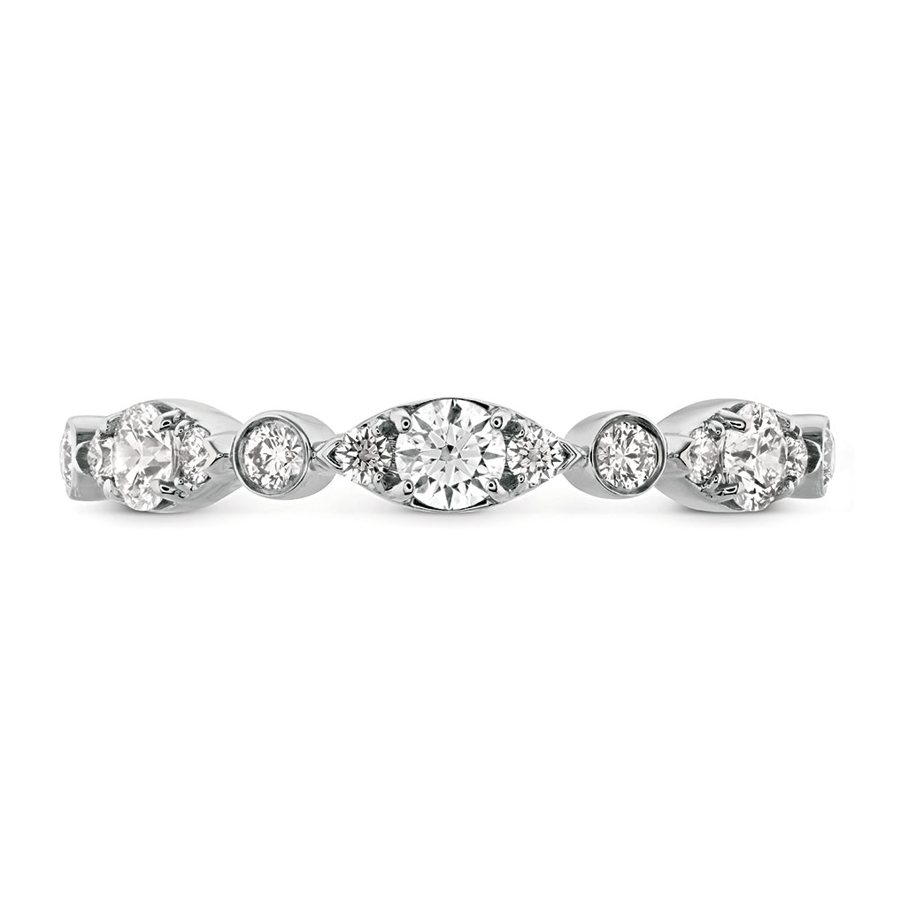 """Hearts On Fire """"Regal"""" 18K White Gold Diamond Wedding Band In Recent Band Of Hearts Rings (View 9 of 25)"""